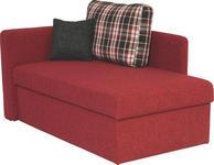 LIEGE in Textil Rot  - Rot/Schwarz, Design, Kunststoff/Textil (142/90/87cm) - Novel