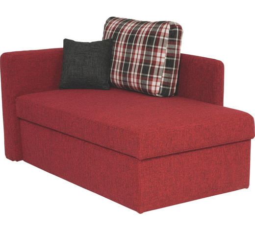 VÁLENDA, textil, červená - černá/červená, Design, textil/umělá hmota (142/90/87cm) - Novel