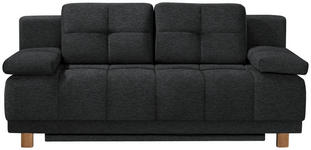 BOXSPRINGSOFA in Textil Anthrazit  - Chromfarben/Anthrazit, MODERN, Textil/Metall (202/92/104cm) - Novel