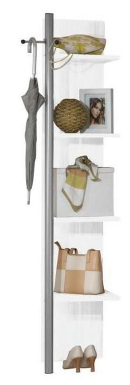 REGAL Weiß - Weiß, Design, Holzwerkstoff (40/195/41cm) - Moderano
