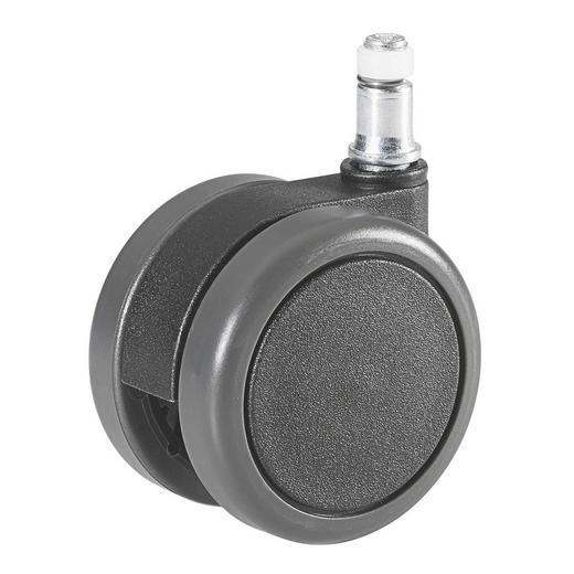 DREHSTUHLROLLE - Schwarz/Grau, Basics, Kunststoff (6,5cm)