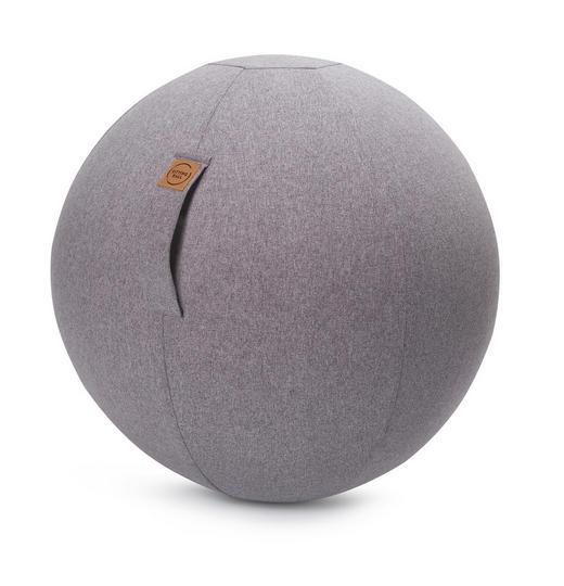 SITZBALL Filz Uni Grau - Grau, Textil (65cm)