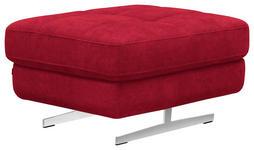 HOCKER Rot - Chromfarben/Rot, Design, Textil (86/37/65cm) - Novel