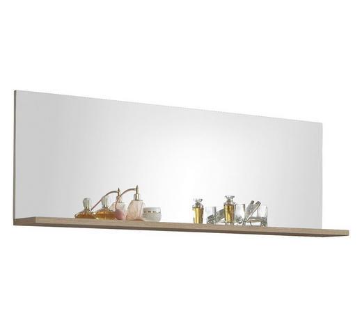 SPIEGEL Eichefarben  - Eichefarben, Design, Glas/Holzwerkstoff (129/47/20cm) - Xora