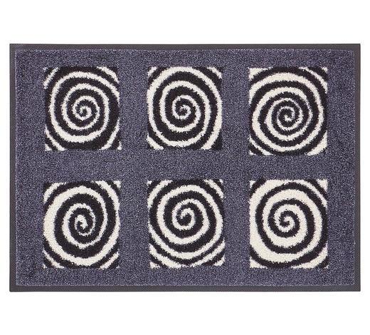 FUßMATTE 40/60 cm Grau, Schwarz, Weiß  - Schwarz/Weiß, Basics, Kunststoff/Textil (40/60cm) - Esposa