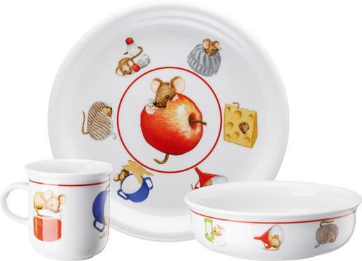Kindergeschirr-Set von Arzberg Porzellan 3-teilig - Multicolor, Basics, Keramik (20,8/20,5/10,5cm)
