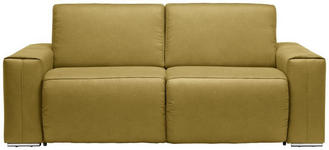 SCHLAFSOFA Gelb  - Chromfarben/Gelb, Design, Textil/Metall (210/90/102cm) - Dieter Knoll