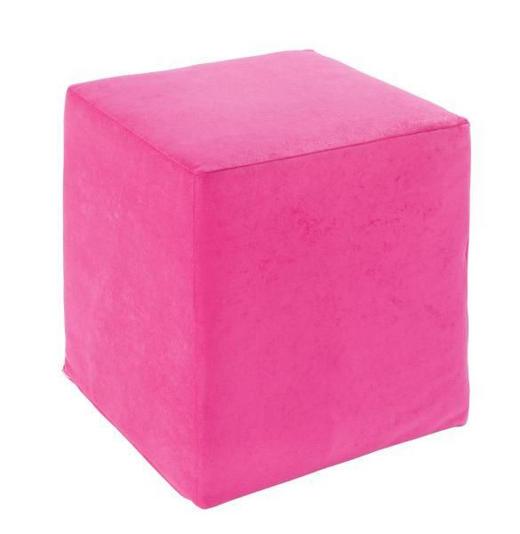 SITZWÜRFEL Mikrofaser Pink - Pink, Design, Textil (36/40/36cm) - Carryhome