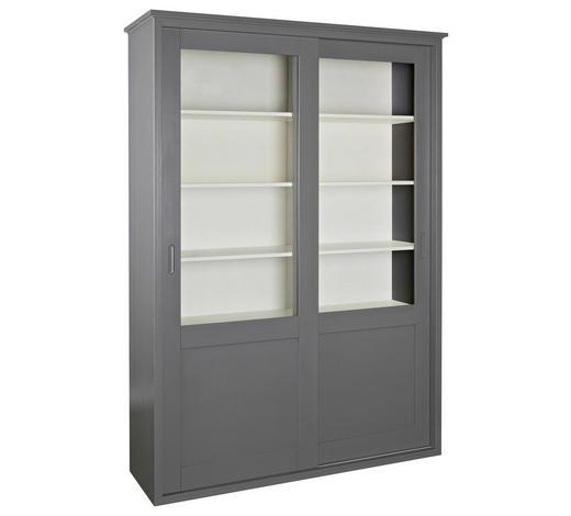 VITRINE in massiv Kiefer Grau  - Grau, Design, Glas/Holz (147/208/46cm) - Ambia Home