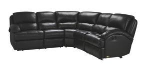 RECLINERSOFFA - svart, Klassisk, metall/läder (260/104/255cm) - Low Price