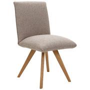 STOL, les, tekstil hrast, sivo rjava - sivo rjava/hrast, Natur, tekstil/les (52/93/66cm) - Voleo