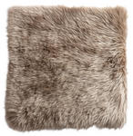 SITZKISSEN  - Taupe, KONVENTIONELL, Textil/Fell (34/34cm) - Esposa