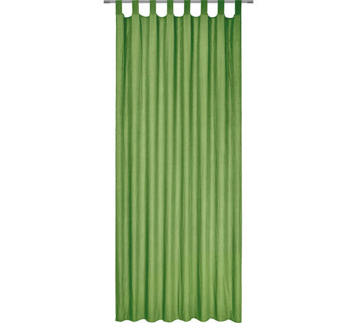 SCHLAUFENVORHANG halbtransparent - Grün, Basics, Textil (135/245cm) - Boxxx