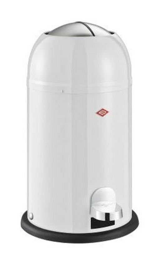 ABFALLSAMMLER KICKMASTER JUNIOR 12 L - Edelstahlfarben/Schwarz, Kunststoff/Metall (30/51cm) - Wesco