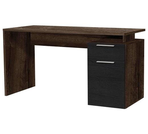 PISAĆI STOL - boje hrasta/crna, Design, drvni materijal/plastika (140/73cm) - Cantus