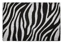 FUßMATTE 40/60 cm Tier Schwarz, Silberfarben  - Silberfarben/Schwarz, Trend, Kunststoff/Textil (40/60cm) - Esposa