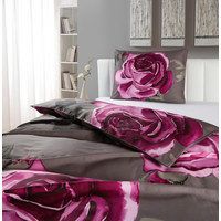 BETTWÄSCHE 140/200 cm - Braun/Rosa, LIFESTYLE, Textil (140/200cm) - ESPOSA