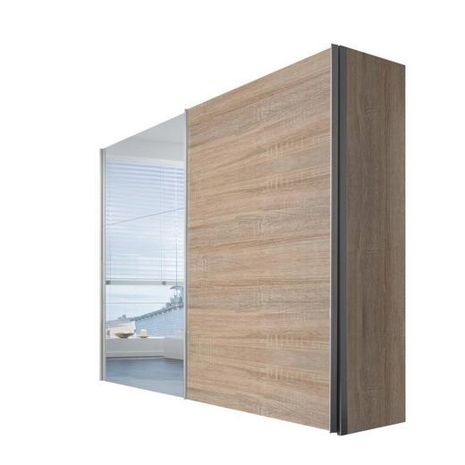 SCHWEBETÜRENSCHRANK 2-türig Sonoma Eiche - Alufarben/Sonoma Eiche, KONVENTIONELL, Glas/Holzwerkstoff (250/216/68cm) - Hom`in