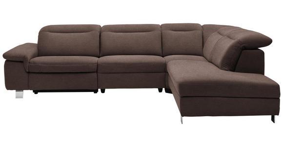 WOHNLANDSCHAFT in Textil Braun - Chromfarben/Braun, Design, Textil/Metall (305/231cm) - Dieter Knoll