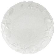 PLATZTELLER  33 cm - Weiß, Trend, Glas (33cm) - Ambia Home