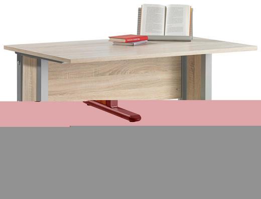 SCHREIBTISCH Eichefarben - Eichefarben, Design, Metall (120/75/75cm) - CS SCHMAL