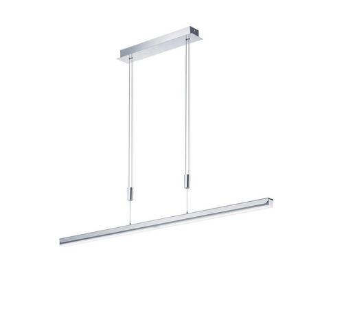 LED-HÄNGELEUCHTE - Weiß, Design, Kunststoff/Metall (120-180/90-150cm) - Ambiente