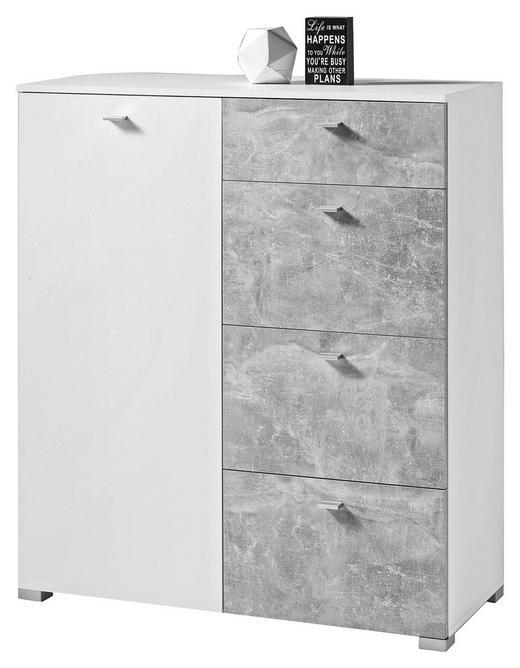 KOMMODE 100/116/42 cm - Silberfarben/Weiß, KONVENTIONELL, Holzwerkstoff/Kunststoff (100/116/42cm) - Carryhome