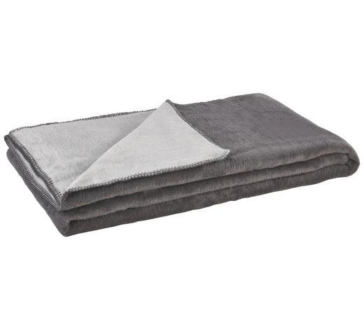 ODEJA DUBLIN, SIVA - siva/srebrna, Basics, tekstil (150/200cm) - Ibena-LÖSCHEN