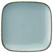 Porzellan  DESSERTTELLER  quadratisch  - Hellblau, Basics, Keramik (22/22cm) - Ritzenhoff Breker