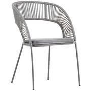 STUHL Grau - Grau, Design, Textil/Metall (56/81/62cm) - Ambia Home