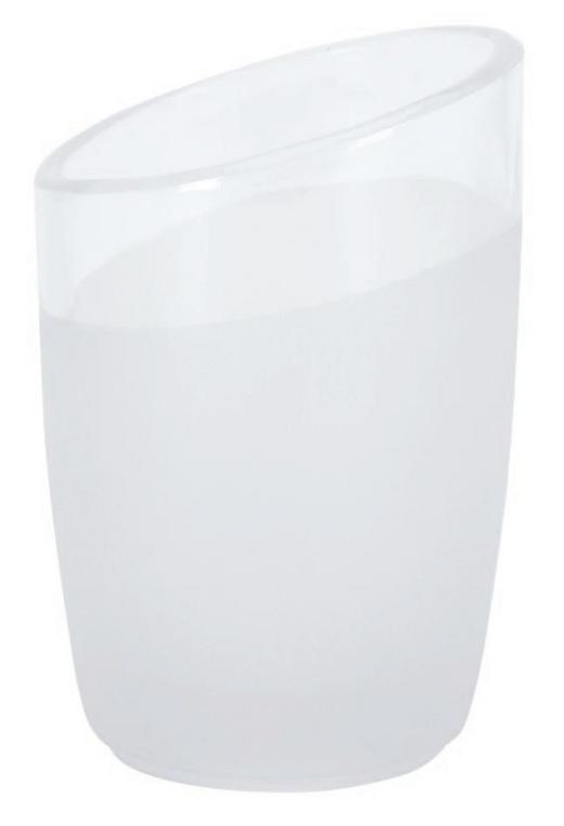 ZAHNPUTZBECHER - Weiß, Basics, Glas (7/10cm) - Spirella