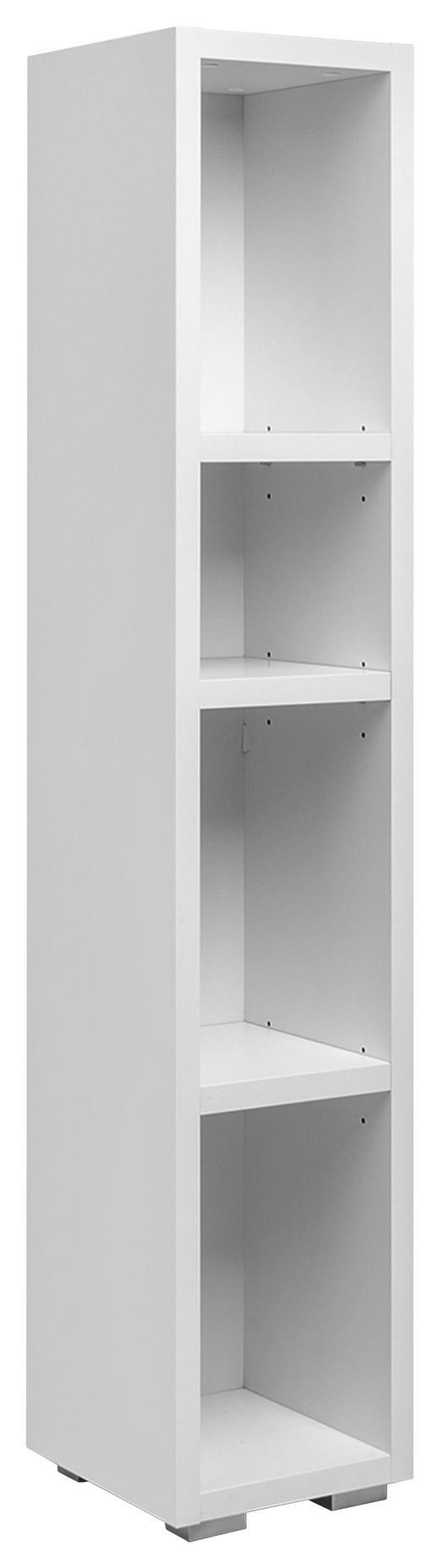 REGALELEMENT Weiß - Silberfarben/Weiß, KONVENTIONELL (25/131/27cm) - Carryhome