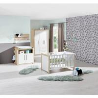 KLEIDERSCHRANK Mathilda - Silberfarben/Weiß, KONVENTIONELL, Holz/Holzwerkstoff (134/199/52cm) - My Baby Lou