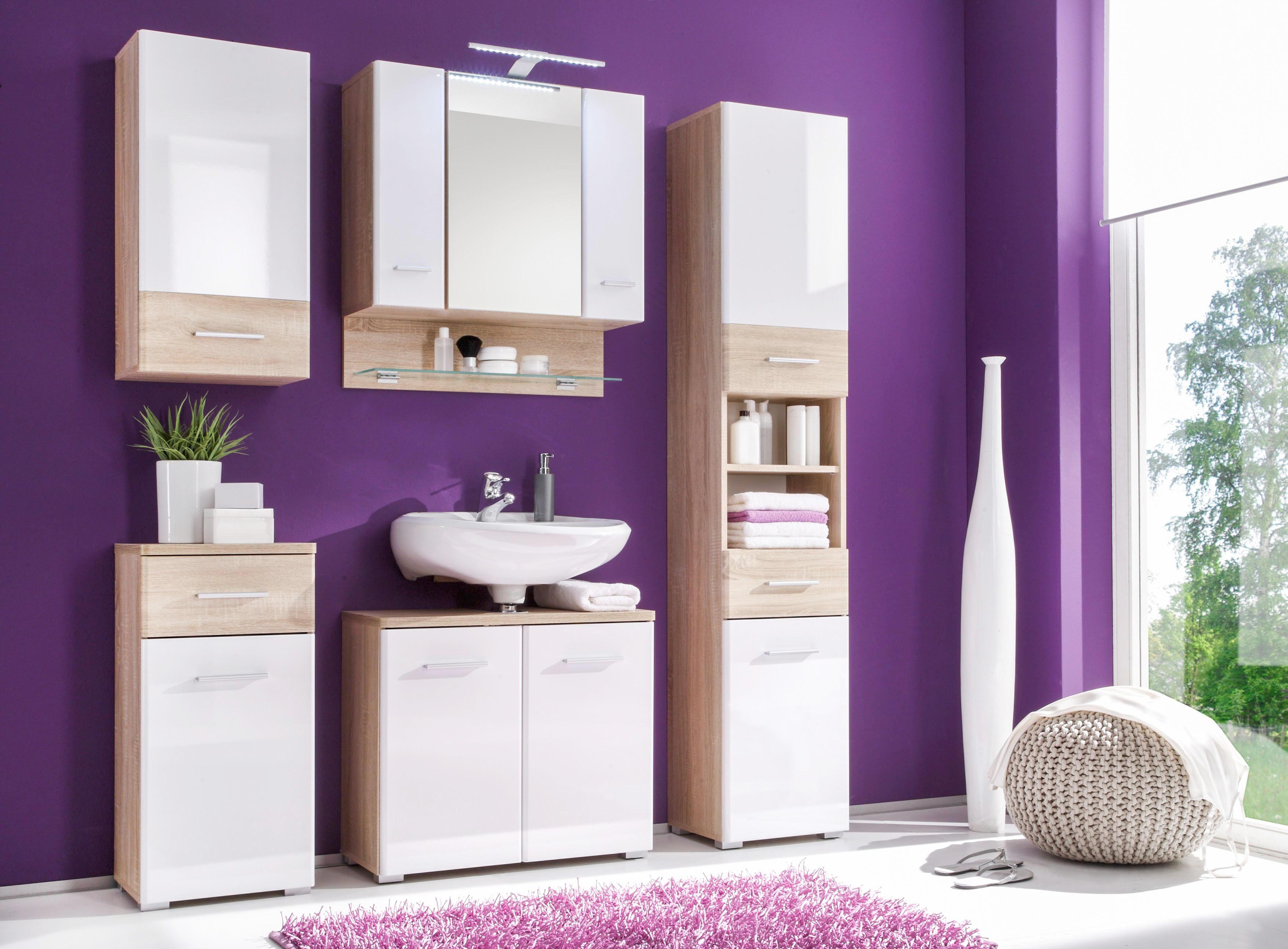 HÄNGESCHRANK Weiß - Silberfarben/Weiß, Basics, Holzwerkstoff/Kunststoff (38/73/26cm) - CARRYHOME