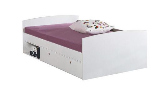 STAURAUMBETT 90/200 cm - Weiß, Design (90/200cm)