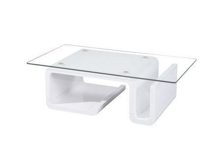 STOČIĆ ZA KAFU - Bela, Dizajnerski, Staklo/Pločasti materijal (120/44/65cm) - Boxxx