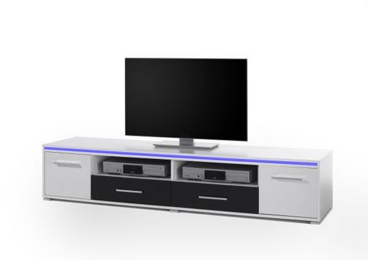 TV ELEMENT - bijela/boje srebra, Design, drvni materijal/plastika (188/38/45cm) - BOXXX