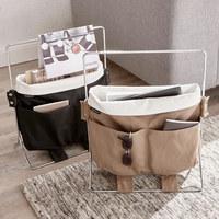 ZEITUNGSSTÄNDER Metall, Textil Sandfarben, Taupe - Sandfarben/Taupe, Basics, Textil/Metall (20/41/35cm) - BLOMUS