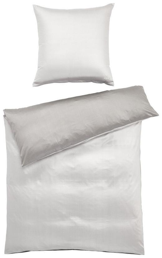 BETTWÄSCHE Makosatin Anthrazit, Weiß 155/220 cm - Anthrazit/Weiß, Basics, Textil (155/220cm) - JOOP!