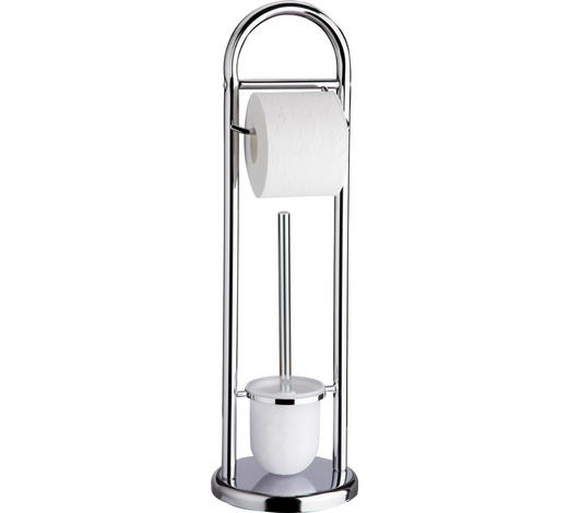 WC SADA - bílá/barvy chromu, Basics, umělá hmota (20/63/11cm) - Sadena