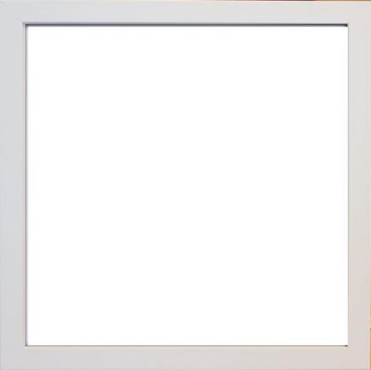 BILDERRAHMEN in Weiß - Weiß, Basics, Glas/Kunststoff (33/33/3cm)