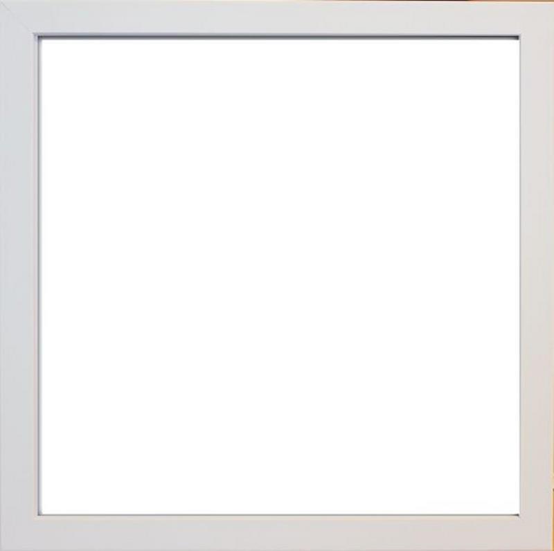 FOTORAM - vit, Basics, glas/plast (33/33/3cm)