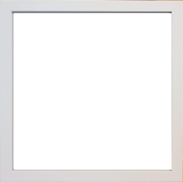 RÁM NA OBRAZY - bílá, Basics, dřevo/sklo (33/33/3cm)