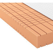 GELSCHAUMMATRATZE Quantum 200 roll-pack 90/200 cm  - Weiß, Basics, Textil (90/200cm) - Schlaraffia