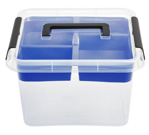 BOX MIT DECKEL 30/30/16,5 cm  - Transparent, Basics, Kunststoff (30/30/16,5cm) - Plast 1