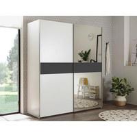 ORMAR S KLIZNIM VRATIMA - bijela/boje srebra, Moderno, staklo/drvni materijal (170/195/58cm)