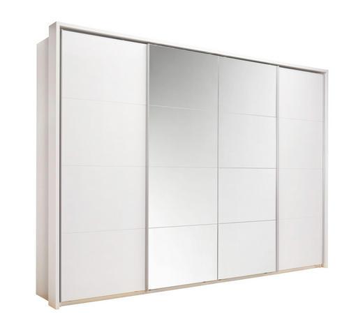 SKŘÍŇ S POSUVNÝMI DVEŘMI, bílá - bílá/barvy hliníku, Konvenční, kov/kompozitní dřevo (325/230/62cm) - Xora