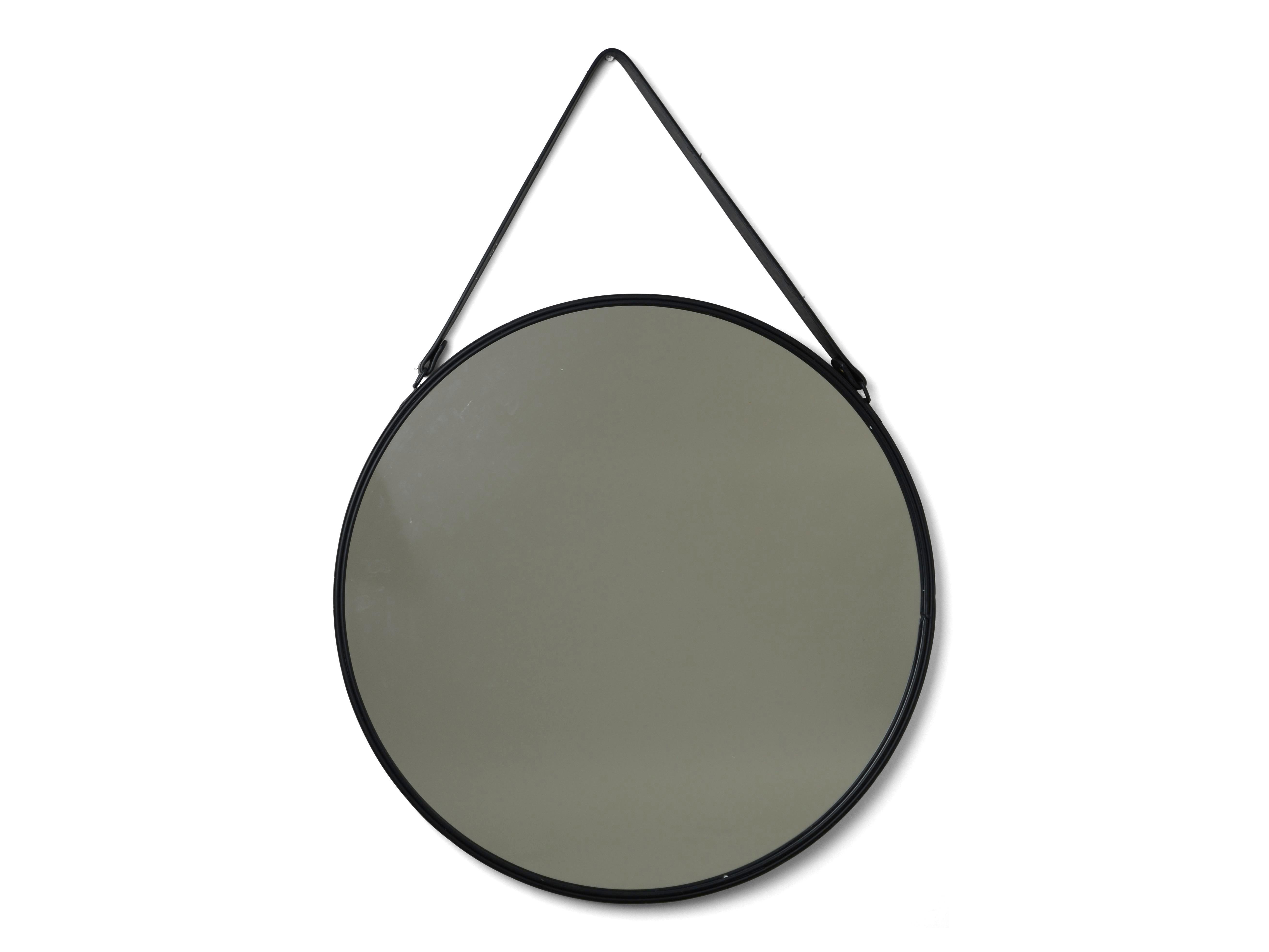 rund spegel läder