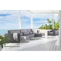 LOUNGEGARNITUR 6-teilig - Grau, Design, Textil (355/80/147cm)