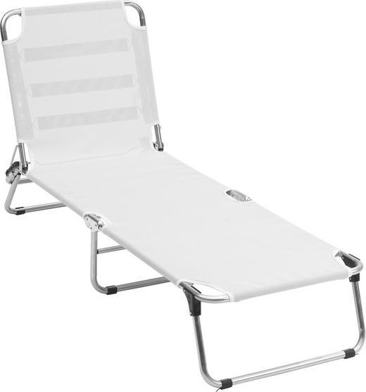 DREIBEINLIEGE Aluminium Weiß - Weiß, Design, Textil/Metall (75/40/207cm)